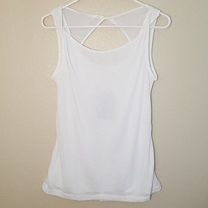 Athleta find your Center White tank top